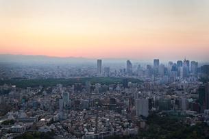 都心の夕景(六本木ヒルズより西を見る)の写真素材 [FYI01425820]