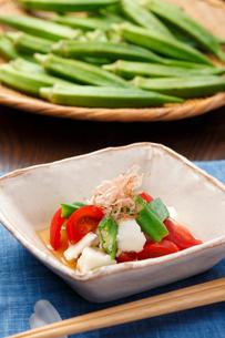 オクラと長芋とトマトの写真素材 [FYI01425941]