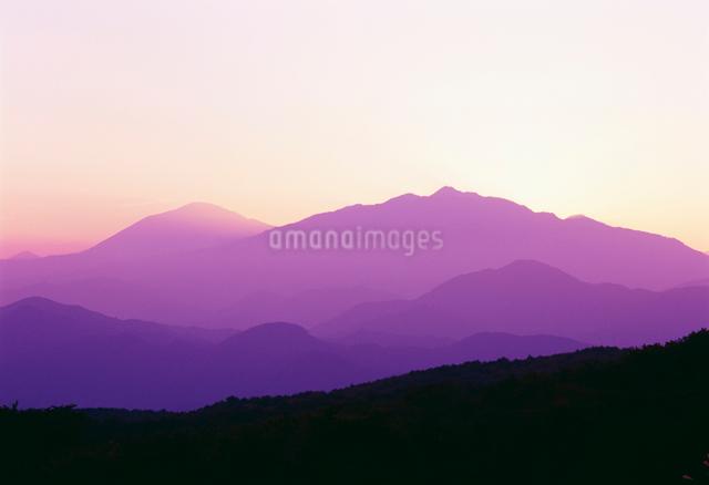 女蜂山より日光連山と男体山の写真素材 [FYI01426080]