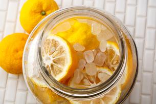柚子酒を作る・柚子の写真素材 [FYI01426899]