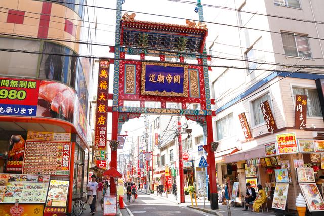 横浜・中華街・関帝廟道の写真素材 [FYI01427711]