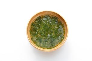 青のりの味噌汁の写真素材 [FYI01427950]