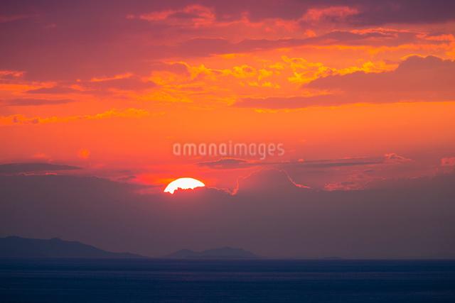 播磨灘夕景の写真素材 [FYI01428392]