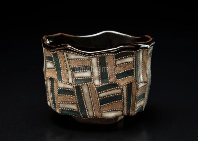 陶器の抹茶茶碗の写真素材 [FYI01428787]