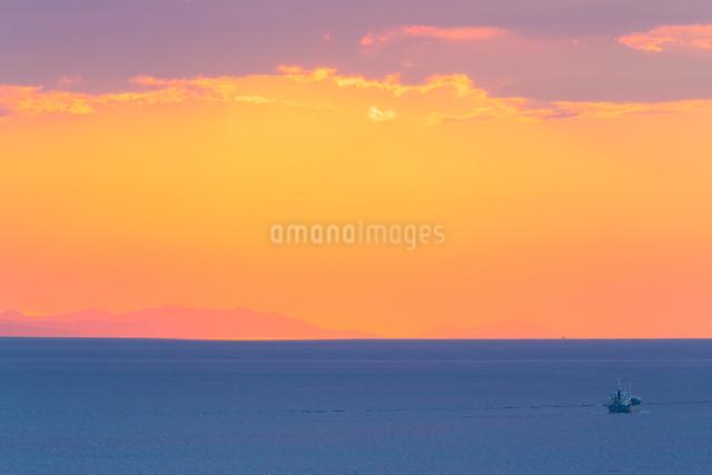 播磨灘夕景の写真素材 [FYI01428896]