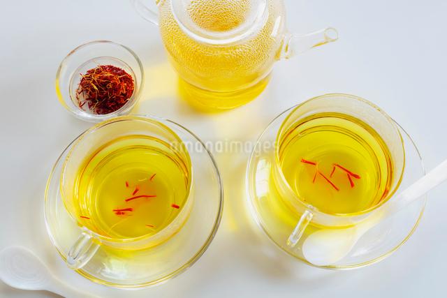 サフラン茶の写真素材 [FYI01429664]