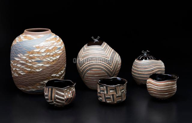 陶器の茶道具の写真素材 [FYI01430126]