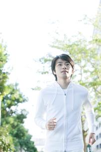 ジョギングをする20代男性の写真素材 [FYI01435161]