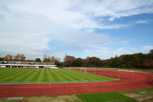 多摩東公園陸上競技場の写真素材 [FYI01437936]