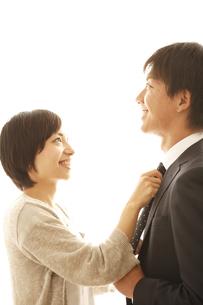 身づくろいしている夫婦の写真素材 [FYI01441138]