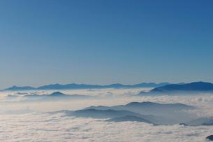 乗鞍岳剣ケ峰山頂からの雲海の写真素材 [FYI01442026]