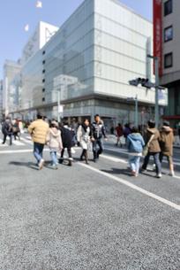 銀座通り歩行者天国の写真素材 [FYI01442280]
