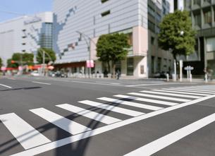 松坂屋デパート前の中央通りと横断歩道の写真素材 [FYI01442410]