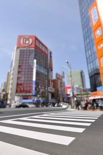 横断歩道と秋葉原電気街の写真素材 [FYI01442414]