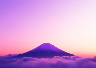 雲海と富士山の写真素材 [FYI01442537]