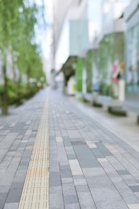 銀座の商店街と歩道の写真素材 [FYI01442830]