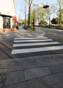 石畳の歩道と横断歩道の写真素材 [FYI01442848]