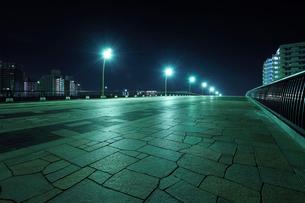 深夜のさくら大橋の写真素材 [FYI01443149]