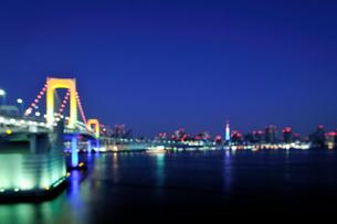 大晦日深夜の東京港の写真素材 [FYI01443161]