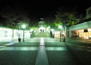 深夜の田園調布駅前広場の写真素材 [FYI01443245]