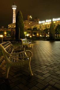 夜の山下公園の写真素材 [FYI01443408]