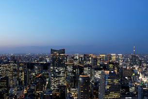 東京タワー特別展望台から見る都心の夕景の写真素材 [FYI01443577]