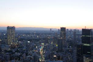 東京タワー特別展望台から見る東京暮色の写真素材 [FYI01443605]