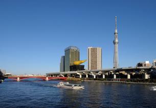 隅田川と東京スカイツリーの写真素材 [FYI01443792]