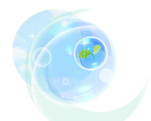 双葉と水球のイラスト素材 [FYI01444075]