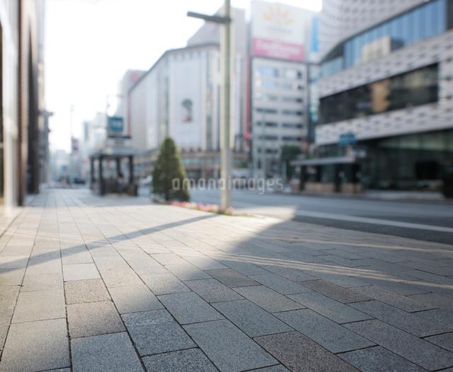早朝の銀座中央通りの写真素材 [FYI01444230]
