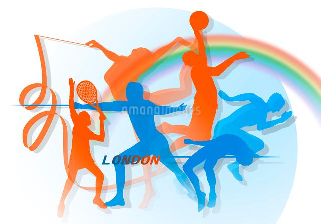 オリンピックイメージのイラスト素材 [FYI01444330]