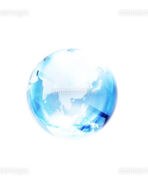 青いガラスの地球のイラスト素材 [FYI01444357]