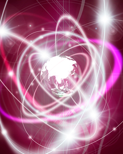 地球と光のイメージの写真素材 [FYI01444452]