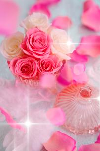 バラと花びらの写真素材 [FYI01444770]