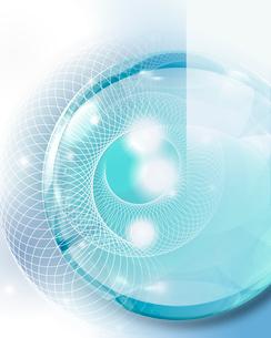 球体と光のイメージの写真素材 [FYI01444803]