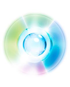 球体と光のイメージの写真素材 [FYI01444978]