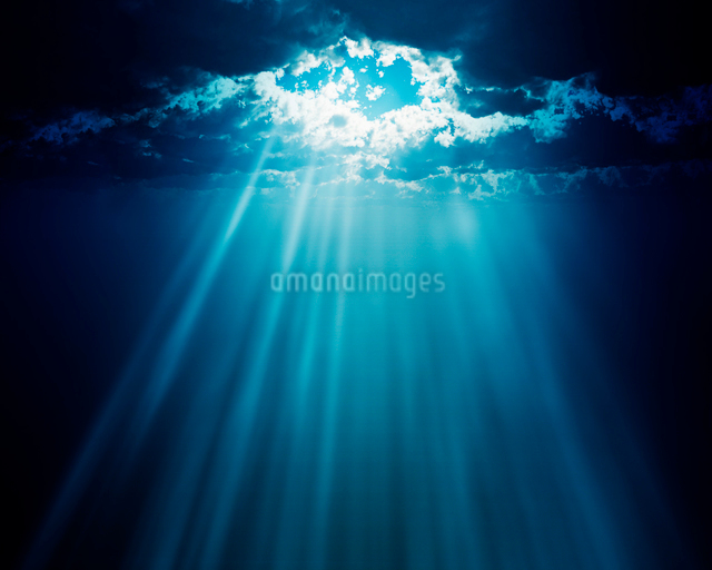 空からの光の写真素材 [FYI01445161]