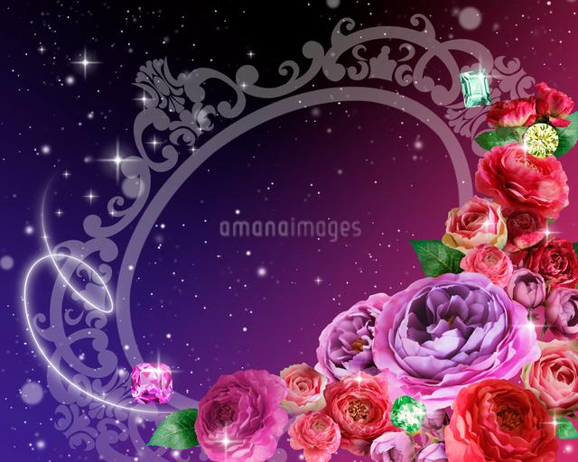 花束とフレームのイラスト素材 [FYI01445175]