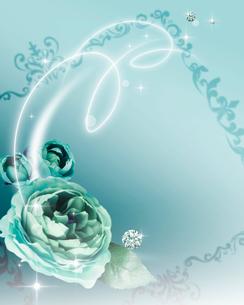 花とフレームのイラスト素材 [FYI01445192]
