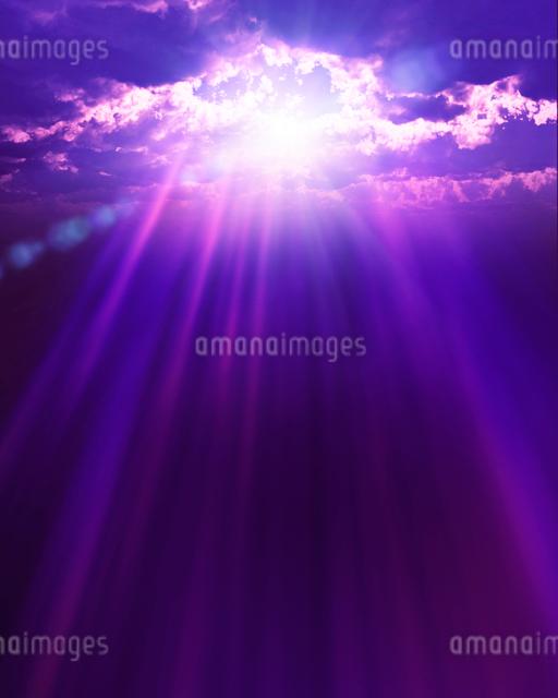 空からの光の写真素材 [FYI01445284]