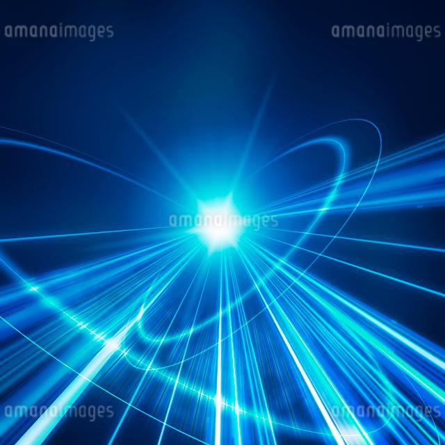 放射状の光の写真素材 [FYI01445292]