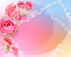 花とフレームのイラスト素材 [FYI01445345]