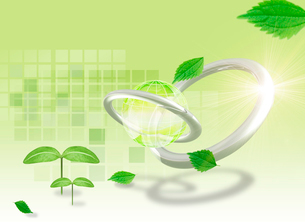 地球と新緑 エコイメージのイラスト素材 [FYI01445378]