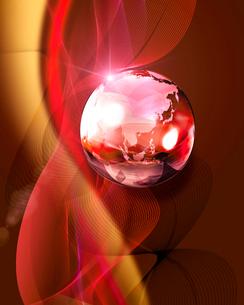 ガラスの地球の写真素材 [FYI01445427]