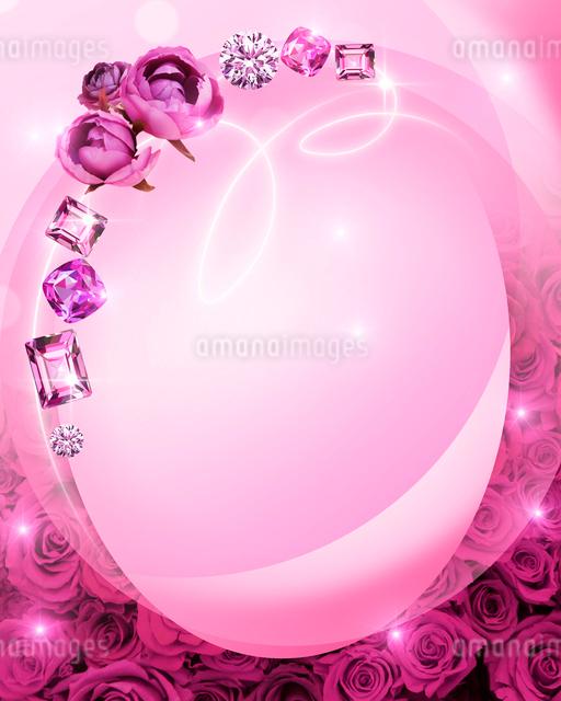 花と宝石のイラスト素材 [FYI01445523]