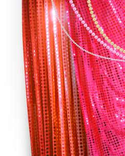キラキラのカーテンの写真素材 [FYI01445567]