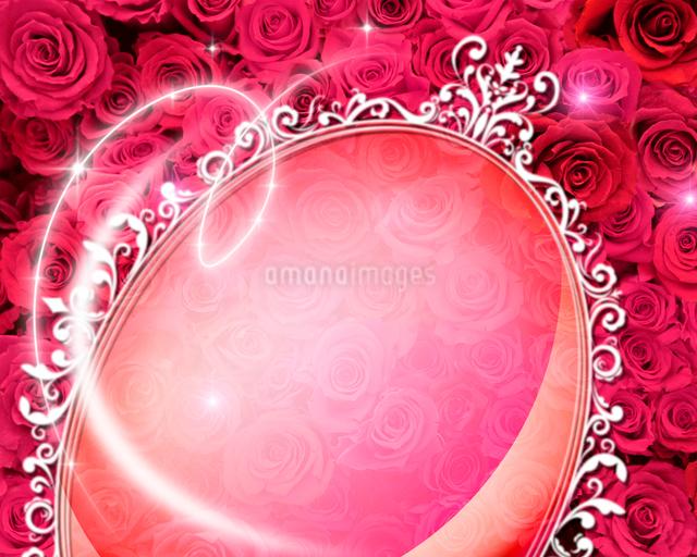 花とフレームのイラスト素材 [FYI01445682]