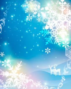 雪の結晶とクリスマスイメージのイラスト素材 [FYI01445708]