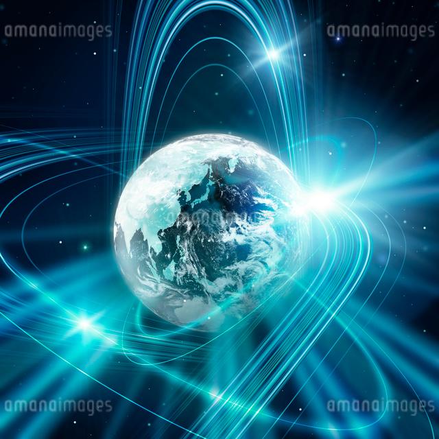 地球と光の写真素材 [FYI01445712]