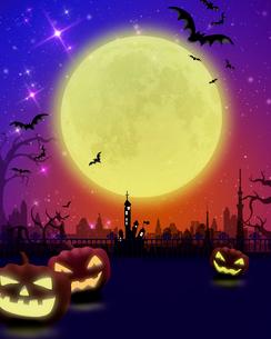 ハロウィンの夜のイラスト素材 [FYI01445776]